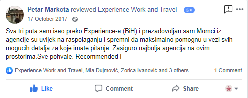 Petar Markota Experience