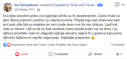 Iva Dimnjasevic Experience